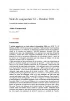 Note de conjoncture 16 – 26 Octobre 2011