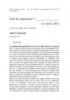 Note de conjoncture 17 - novembre 2011