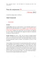 Note de conjoncture 20 - 3 février 2012