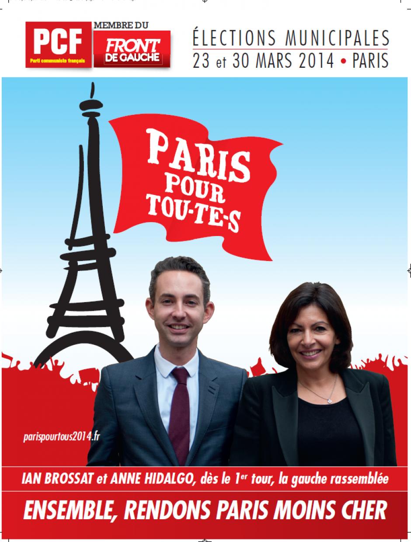 Paris pour tous 2014 : Site de campagne des élections municipales
