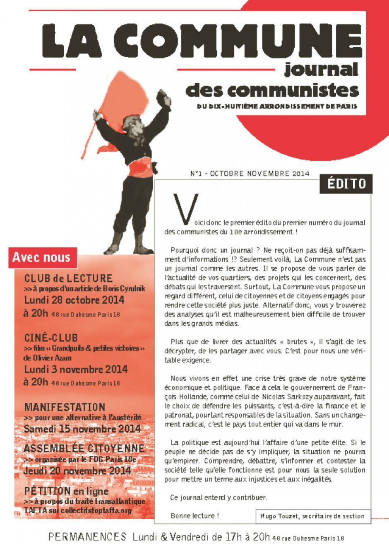 JOURNAL DE LA SECTION DU 18e : La Commune