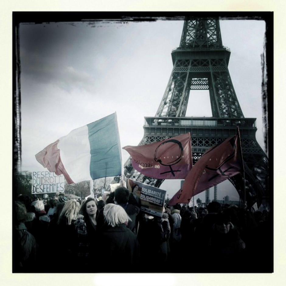Manifestation pour le droit à l'IVG - Solidarité avec les femmes espagnoles
